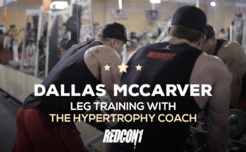 Dallas McCarver Trains Legs With Hypertrophy Coach
