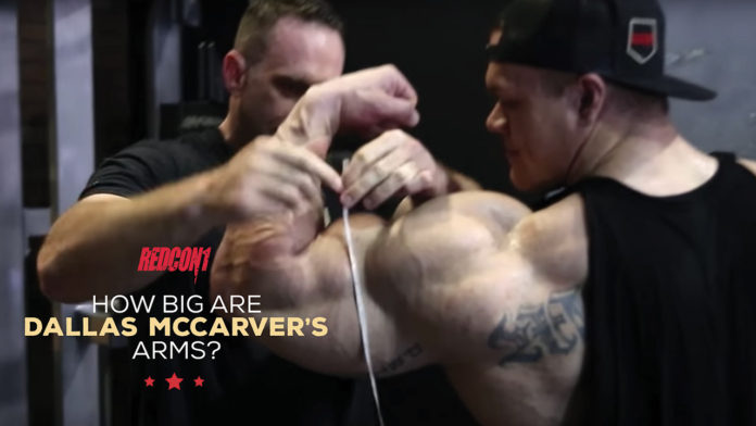 How Big are Dallas McCarvers Arms