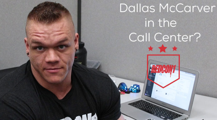 Dallas McCarver makes calls to customers