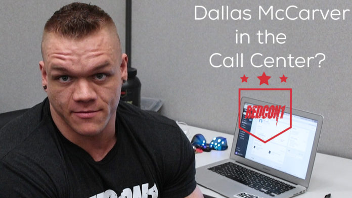 Dallas McCarver makes calls to customers